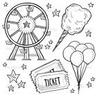 Carnival rides coloring pages