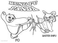Kung fu panda coloring pages