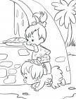Pebbles and bambam coloring pages