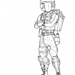 Fortnight coloring pages