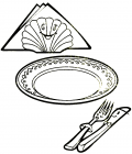 Plate coloring pages