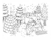 Winter fairy tale coloring pages