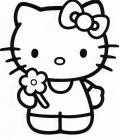 Large hello kitty coloring pages