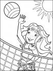 Volleyball coloring pages
