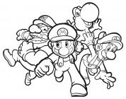 Video game coloring pages
