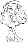 Bratz barbie coloring pages