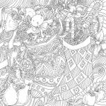 Antistress New year Coloring Pages