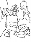 Simpson coloring pages