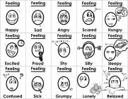 Emotions and feelings coloring pages