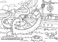 Sea coloring pages