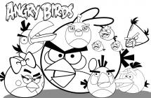 Angry coloring pages