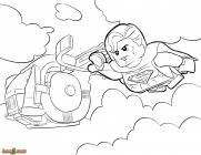 Lego superman coloring pages