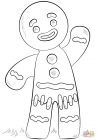 Gingerbread man coloring pages