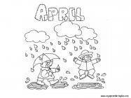 April coloring pages