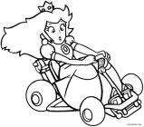 Paper peach coloring pages