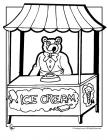Ice cream parlor coloring pages
