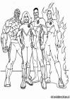 Fantastic 4 coloring pages