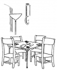 Dining room coloring pages
