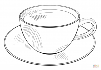 Cups coloring pages