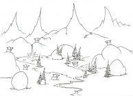 Mountain coloring pages