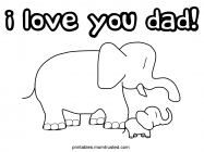 Happy birthday daddy coloring pages