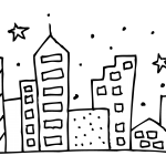 City coloring pages