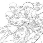 Attack of the Titans Coloring Pages
