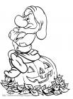 Grumpy the dwarf coloring pages