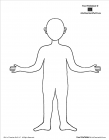 Body outline coloring pages