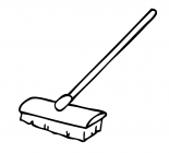 Broom coloring pages