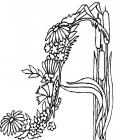 Alphabet flower coloring pages