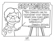 September coloring pages