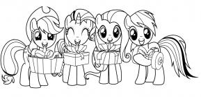 My little pony christmas coloring pages