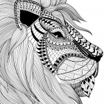Antistress lion Coloring Pages