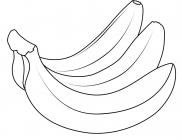 Apples and bananas coloring pages