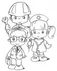 Labor day coloring pages