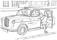 Taxi coloring pages