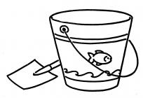 Bucket and spade coloring pages