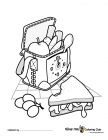 Picnic coloring pages