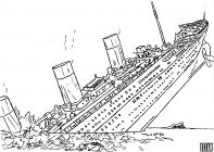 Ocean liner coloring pages