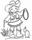 Cowgirl coloring pages