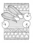 Kwanzaa candles coloring pages