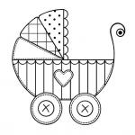 Stroller Coloring Pages