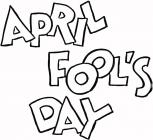 April Fool's Day coloring pages