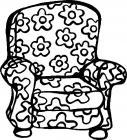 Armchair coloring pages