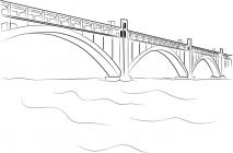 Bridge coloring pages