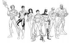Justice league coloring pages