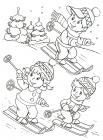 Winter fun coloring pages