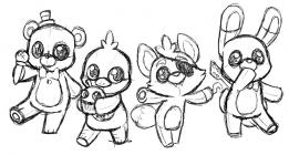 Animatronics coloring pages