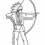 Indian Coloring Pages
